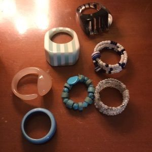 Jewelry - Various plastic and beaded rings